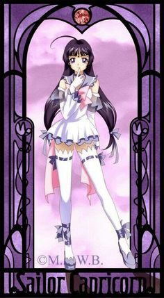 Capricorn as Sailor Moon Sailor Moon Girls, Sailor Moon Fan Art, Sailor Moon Character, Sailor Saturn, Moon Zodiac, Zodiac Art, 12 Zodiac, Zodiac Signs, Astrology Zodiac