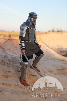 Eastern style functional armour kit: cuirass, pauldrons, bracers and greaves with cops :: ArmStreet