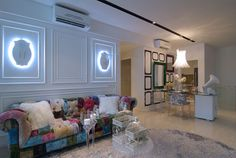 Led details on wall, patchwork like sofa Condo Interior Design, Interior Design Singapore, Cluster House, New Condo, New Property, Condos For Sale, Condominium, Manhattan, Modern Design