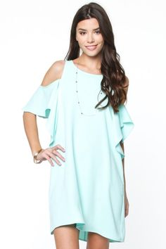 Love And Mint Off The Shoulder Shift Dress