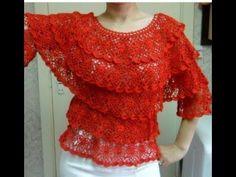 Blusa Salsa! a crochet para todos los talles / Tutorial paso a paso | Crochet y Dos agujas - Patrones de tejido