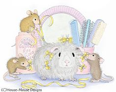 """Mudpie, Muzzy, Amanda and friend from House-Mouse Designs® featured on the The Daily Squeek® for June 20th, 2013. Click on the image to see it on a bunch of really """"Mice"""" products."""