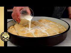 Ζεστή τυρόπιτα με γάλα και 12 φύλλα - ΧΡΥΣΕΣ ΣΥΝΤΑΓΕΣ - YouTube Cheese Pies, Phyllo Dough, Fondue, Appetizers, Milk, Hot, Ethnic Recipes, Youtube, Kitchens