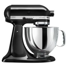 KitchenAid Artisan Series Imperial Black Countertop Stand Mixer at Lowe's. The KitchenAid Artisan Series Tilt-Back Head Stand Mixer, in imperial black, is incredibly versatile and more than a mixer. Kitchenaid Artisan Stand Mixer, Mélangeur Kitchenaid, Small Kitchen Appliances, Kitchen Aid Mixer, Kitchen Tools, Kitchen Dining, Kitchen Gadgets, Kitchen Aide, Kitchen Stuff