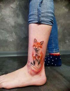Simona Blanar Aquarell Fuchs Tattoo diy tattoos, diy tattoos that last a month, diy tattoos with per Diy Tattoo, Tattoo Fonts, Tattoo Quotes, Neue Tattoos, Body Art Tattoos, Sleeve Tattoos, Wing Tattoos, Tatoos, Trendy Tattoos