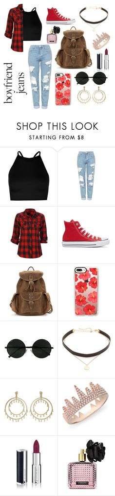 """""""I stole these from my boyfriend"""" by cassie-ragsdale-csr ❤ liked on Polyvore featuring Boohoo, Topshop, Full Tilt, Converse, Casetify, Jennifer Zeuner, Anne Sisteron, Givenchy and Victoria's Secret"""