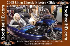 2008 Ultra Classic Electra Glide  BEAUTIFUL BIKE IN A RARE COLOR WITH A MATCHING 2011 H-D SIDECAR, ONE OF THE LAST TO ROLL OFF THE ASSEMBLY LINE. VERY NICE!!!  CALL OR COME INTO GET THE SCOOP! Assembly Line, Used Harley Davidson, Ultra Classic, Electra Glide, Calendar Girls, Sidecar, Motorcycle, Bike, Color