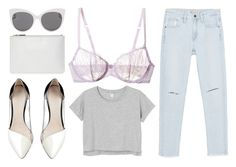 """deception"" by grey-eyes ❤ liked on Polyvore featuring La Perla Studio, Monki, Zara, Witchery, Whistles and Blanc & Eclare"