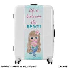 Travel Luggage Cover Starfish Pattern Conch Shells Navy Background Suitcase Protector