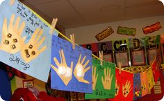 Using their cut out hands and a poster, have students glue objects onto their hands and create a word problem poster based on the number of items in their hands.  From:  Step Into Second Grade