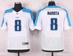 Tennessee Titans #8 Marcus Mariota Elite White NFL Jersey