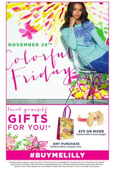Lilly Pulitzer Colorful Friday Promotion