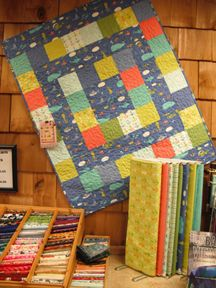 In our Duncan store  Pattern is La France from Villa Rosa designs http://www.villarosadesigns.com/shop/Patterns.htm fabric is Bartholomeows' Reef from Moda a quick and cute quilt for the cat lover in your family