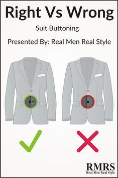Suit buttoning rules - do they work for you?Hope you listen to me! Mens Style Guide, Men Style Tips, Denim Jacket Men, Men Shorts, Men's Denim, Denim Jackets, Jean Jackets, Grey Suit Combinations, Suit Fashion