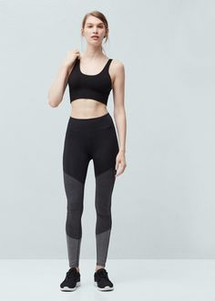 Slimming effect leggings -  Woman | MANGO Denmark