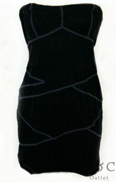 Urban Outfitters Silence Noise Strapless Velvet Mini DRESS Stretch Black Medium