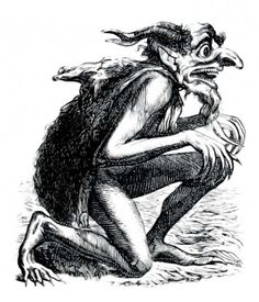 The Demon Eurynome from the 1818 Occult Book The Dictionnaire Infernal/AND OTHER HALLOWEEN printable Vintage Art and Ideas!