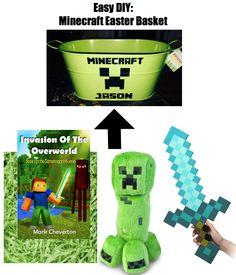 DIY Minecraft Easter Basket
