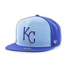 detailed look 80968 636b1 Kansas City Royals Sure Shot Accent Captain Royal 47 Brand Adjustable Hat. Detroit  GameAccessories ...