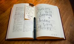 love this fun alternative to a guest book...using an old dictionary and asking guests to circle words that will help the couple remember their special day.