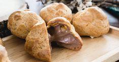 Guľky zodpaľovaného cesta vsebe ukrývajú božský parížsky krém. Eclairs, Creme Brulee, Sweet Potato, Potatoes, Bread, Vegetables, Recipes, Food, 3