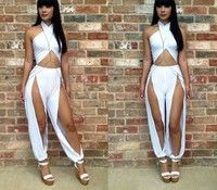 Club Dresses, Party Dresses, Sexy Night Club Dresses and More. Looking for the Sexiest Club Dresses or Party Wear? Shop at Club Dresses Plus. Sexy Outfits, Sport Outfits, Club Outfits, Jumpsuit Dress, Bodycon Dress, White Jumpsuit, Summer Jumpsuit, Ladies Jumpsuit, Dress Pants