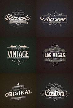 10 Retro Vintage Badges vol.1