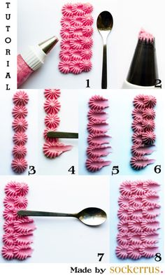 37 Ideas For Cake Decoration Icing Frosting Techniques Icing Tips, Frosting Tips, Frosting Recipes, Buttercream Ideas, Buttercream Cake, Cake Decorating Tutorials, Cookie Decorating, Decorating Cakes, Cake Decorations