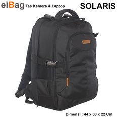 a157c16e09e Tas Kamera Dan Laptop Backpack Kode Solaris Untuk Laptop 14 INCH. Ini  adalah produk tas EIBAG Bandung yang menyasar pasar fotografi. Kapasitas   1-2  body ...