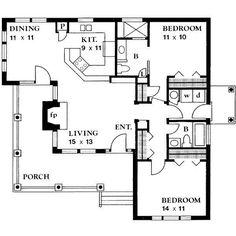 House Plan 140-131 ❤ liked on Polyvore featuring fillers, house plans, articles, backgrounds and house