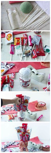 How To Make A Candy Bar Bouquet for Valentine's Day - Step-by-step instructions!!! #inspiredgathering #spon
