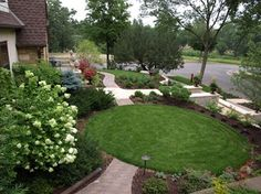 Small sloping Front Yard Landscaping Ideas | Front Yard Lawn Design Ideas, Pictures, Remodel, and Decor