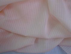 """Swiss Voile - Baby Dimity Stripe, Shell Pink, 62"""" wide"""