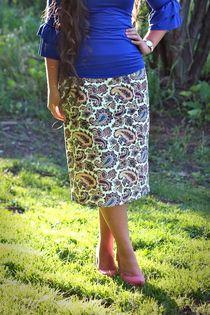 Summer Paisley Pencil Skirt #daintyjewells