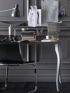 Ge arbetsplatsen ett lyft och ny attityd med aprilnyheterna LALLE och NIPEN bordsben. De klassiska kurviga formerna blir en kul kontrast till den modernare bordsskivan.