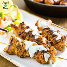Syn Free Chicken Souvlaki with Tzatziki