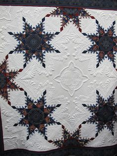 Wish I knew more about this piece. New, old?  machine quilting or hand?  Incredible!