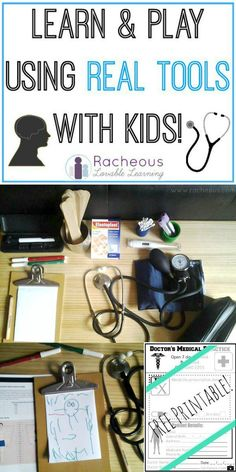 Learn & Play using Real Tools with Kids | Racheous - Lovable Learning