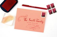 DIY Tutorial: Holiday Envelope Addressing Styles by Antiquaria for Oh So Beautiful Paper