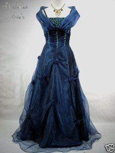VICTORIAN Gothic Fae/Sidhe MASQUERADE Dress/Ballgown 16/18 Satin/Organza…