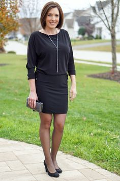 Loving this little black dress from @jolynneshane!  It's perfect for a work office party or any holiday party!