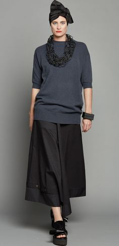 CASHMERE TEE - ANTHRACITE NWKC111AN