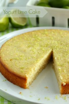 Yogurt Lime Cake | A Sweet Baker