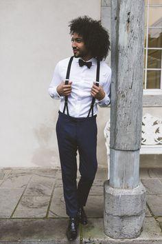 ©Fotografie Hanna Witte Der Gentleman, Bowtie And Suspenders, Jackett, Big Black, Hair Looks, Groomsmen, Custom Suits, Bridesmaid, Mens Fashion