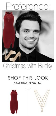 """""""Bucky"""" by fangirlingciera ❤ liked on Polyvore featuring Sebastian Professional, Elizabeth and James, Forever 21, Qupid, Christmas, marvel, buckybarnes and TheWinterSoldier"""