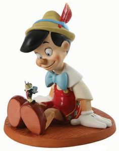 'Anytime you need me, you know, just whistle!' - Pinocchio and Jiminy Cricket figurine (WDCC) from Fantasies Come True