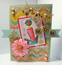 Charmed Stamping: Sami Stamps Comfy Cocoa handmade card Mother's Day