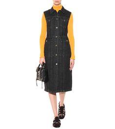 Genta black denim dress