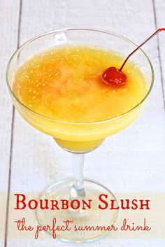 Bourbon Slush Recipe the perfect summer drink #drink #bourbon #slush #adultdrinks