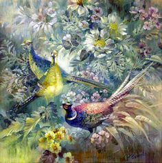 View album on Yandex. Asian Wallpaper, Decoupage, New Artists, Animal Paintings, Impressionism, Still Life, Original Paintings, Art Gallery, Photos